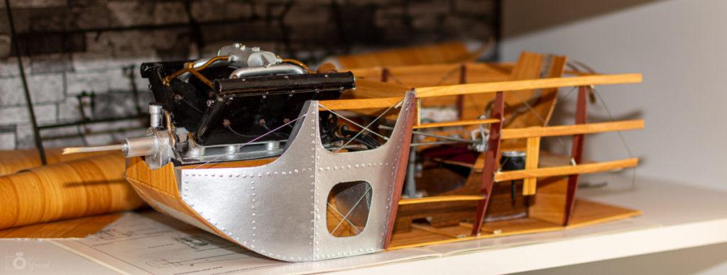 Rozpracované letadlo z první světové války Spad S XIII.
